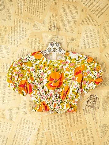 Vintage Cropped Back Zip Shirt