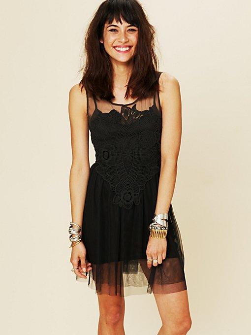 Crochet Applique Dress