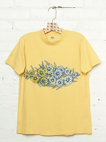 Vintage 1970s Sunflower Graphic Tee