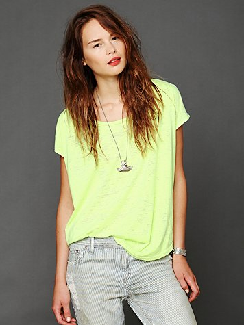 We The Free Neon Burnout Easy Tee