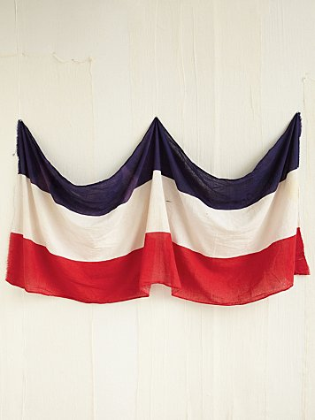 Vintage Red, White, and Blue Flag