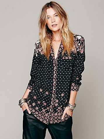 Ethnic Diamonds Buttondown
