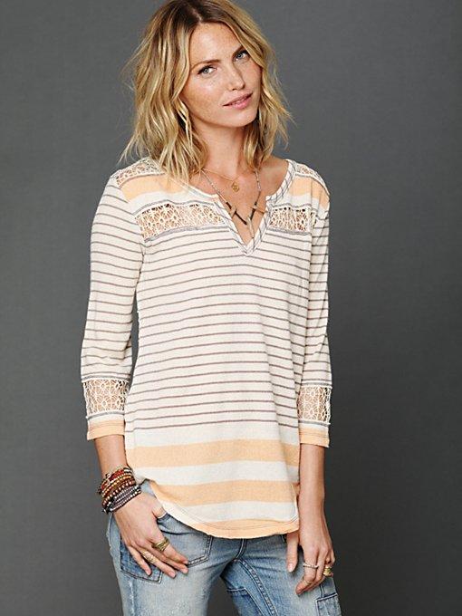 Stripe Crochet Tee