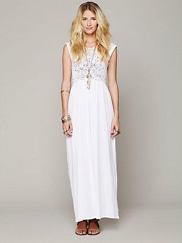 Isobel Crochet Maxi Dress