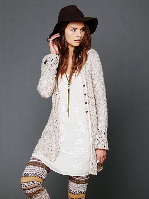 Hooded Solid Cardigan