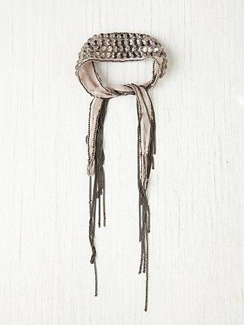 Beaded Metal Fringe Bracelet