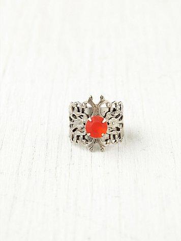 Filagree Cut Stone Ring