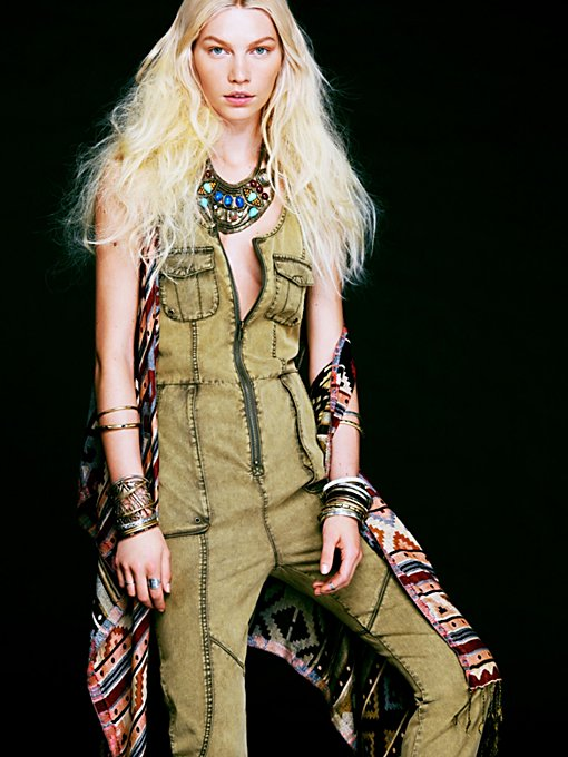 Adorned Utility Overall
