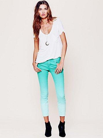 Dip Dye 5 Pocket Skinny Jeans