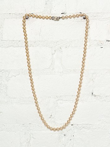 Vintage Double Wrap Pearl Necklace