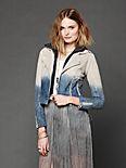 Dip Dye Leather Jacket