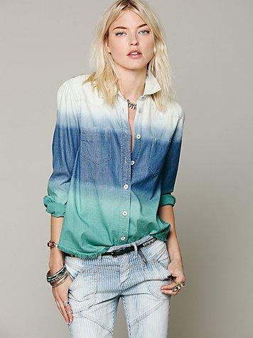 Ombre Button Down Shirt