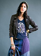 Dark Brown Biker Jacket