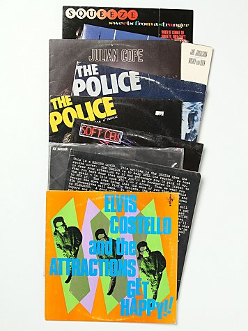 """Vintage """"English New Wave"""" Collection of Records"""