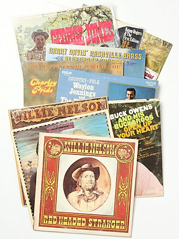 "Vintage ""Country"" Collection of Records"