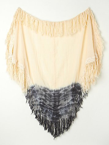 Ombre Fringe Triangle Shawl