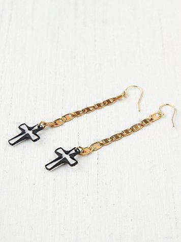 Cross Drop Earrings