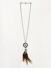 Feather Dream Catcher Necklace