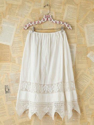 Vintage Victorian Cotton Skirt