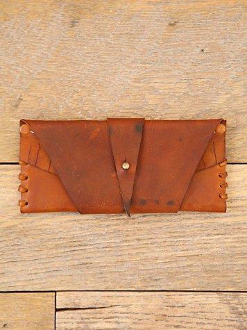 Vintage Leather Wraparound Wallet