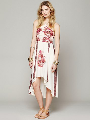 Place Print Halter Dress