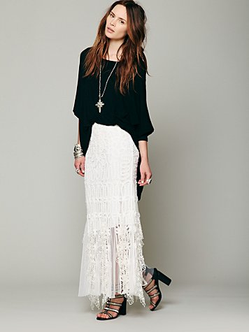 Festival Battenburg Lace Skirt