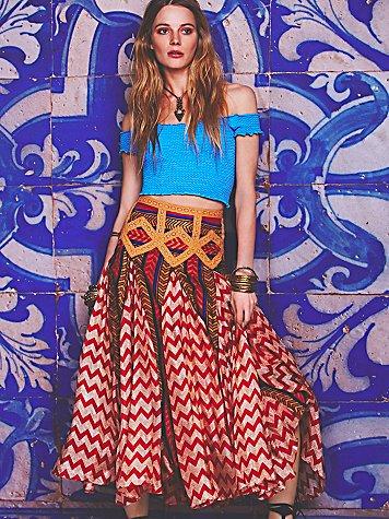 Maracana Silk Skirt