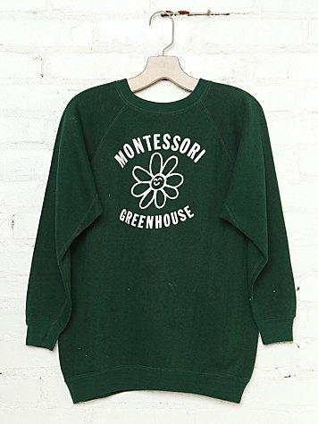 Vintage Montessori Greenhouse Sweatshirt