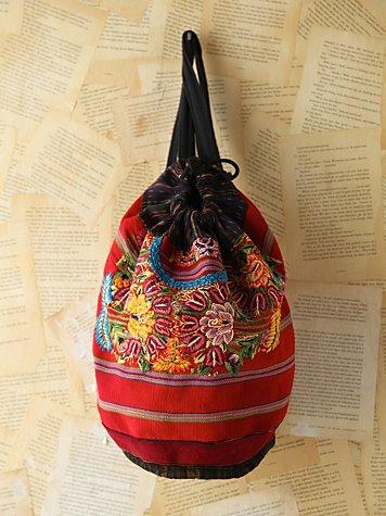 Vintage Colorful Embroidered Backpack