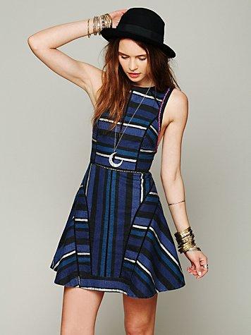 FP New Romantics Painted Stripe Dress