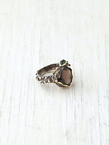 Smokey Mountain Stone Ring