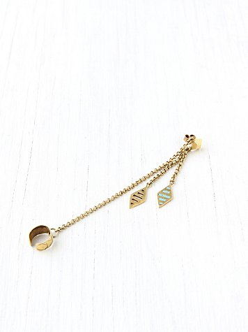 Cuff And Post Drop Earring