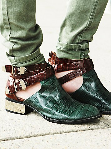Overland Croc Ankle Boot