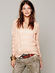 Sheer Stripe Henley