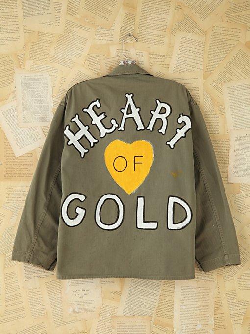 Vintage Hand-Painted Military Jacket