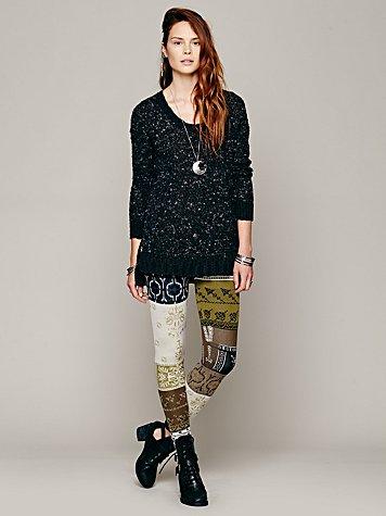 Patchwork Sweater Legging