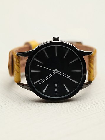 Side Stamped Leather Watch