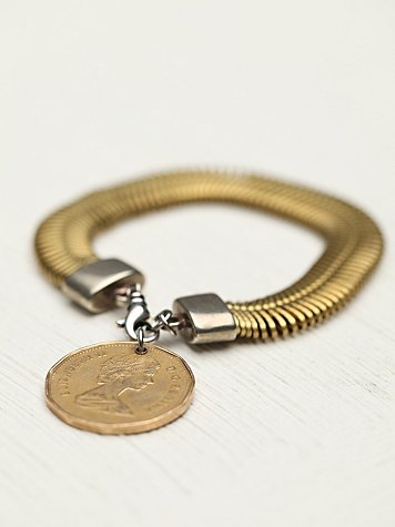Spin And Coin Charm Bracelet