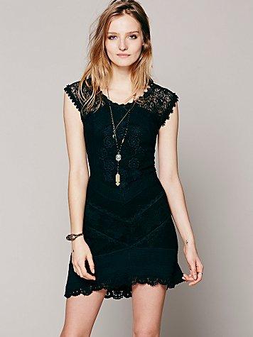 Beverly Crochet Dress