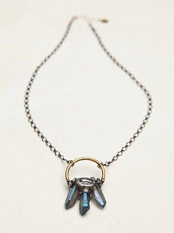 Dark Dipped Crystal Pendant