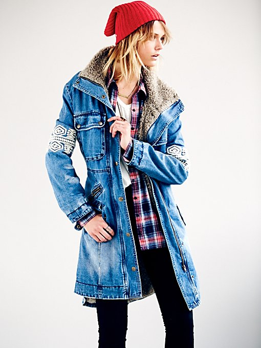 Rendered Denim Parka