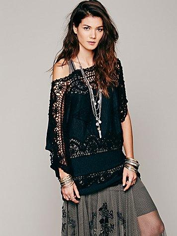 FP New Romantics Simply Lace Sweater Tunic