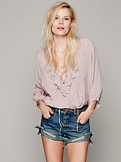 FP One Ruffle Me Up Striped Blouse