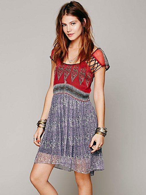Flaming Hearts Mini Dress