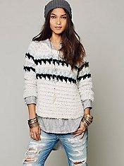Fuzzy Fairisle Pullover