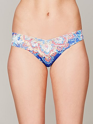 Feathered Paisley Thong