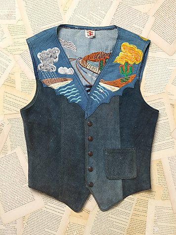 Vintage 1970s Embroidered Vest