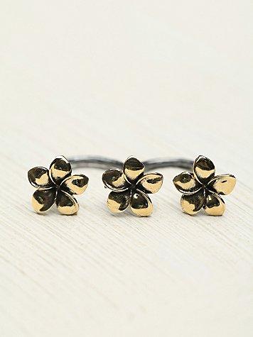 Triple Flower Ring