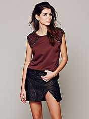 Manchester Quilted Leather Skirt