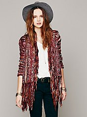 Short Fringe Cardigan